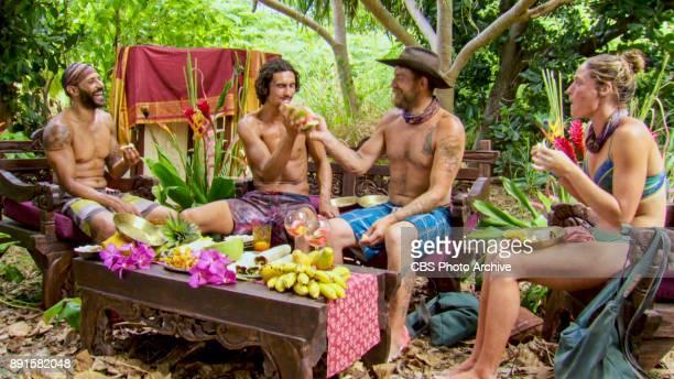 'Buy One Get One Free' Joe Mena Devon Pinto Ben Driebergen and Ashley Nolan on the tenth episode of SURVIVOR 35 themed Heroes vs Healers vs Hustlers...