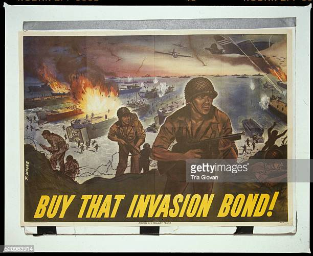 'Buy That Invasion Bond!' Poster by R. Moore