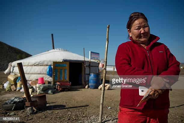 """Buyantin Hundii is a """"ninja"""" and she has had many conflicts with larger mining companies in the Sharygol district of Mongolia. Mongolia today is..."""