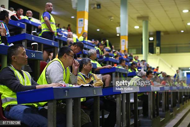 Buyer are seen during the Easter auction at the Sydney Fish Market on March 24 2016 in Sydney Australia The auction comes ahead of Good Friday the...