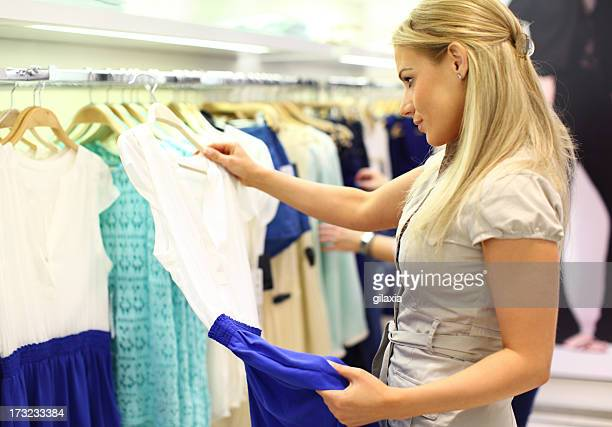 Buying a dress.