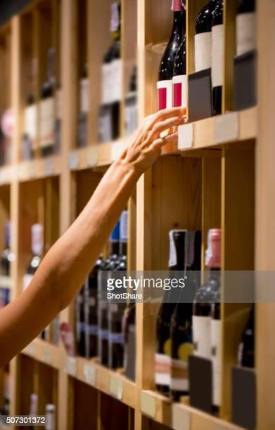 Buying bottle of wine
