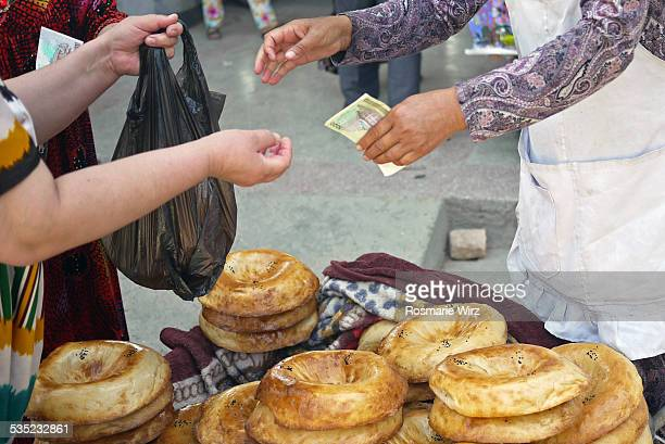 Buying bread at main bazaar