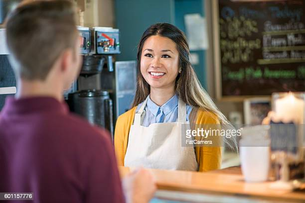 Buying Coffee at a Cafe