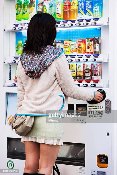 Buying Drink from Vending Machine Tokyo Japan