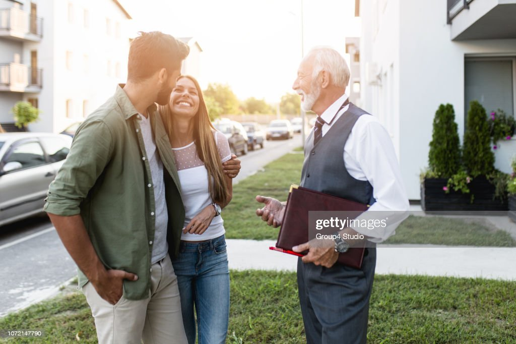 Buying new house : Foto stock