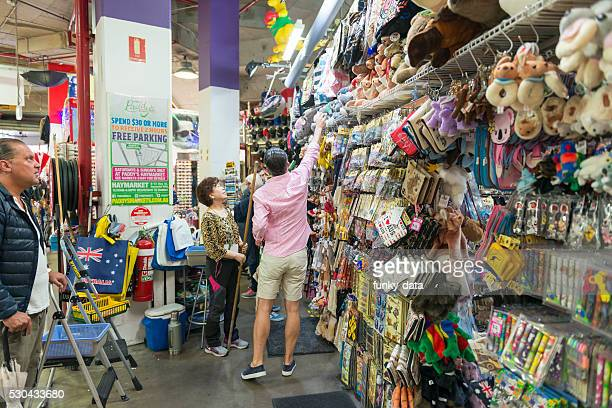Buying souveniers in Paddy's Market