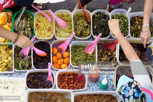 Buying Street Food at Kota Kinabalu Bazaar