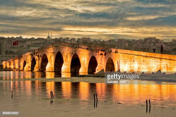 buyukcekmece bridge - historical istanbul stock pictures, royalty-free photos & images