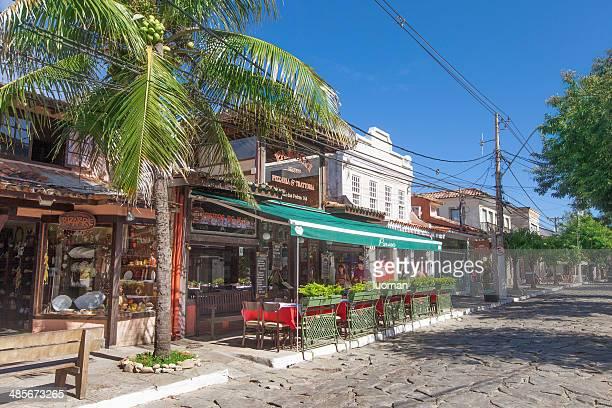 buzios main street - rua das pedras - rua stock pictures, royalty-free photos & images
