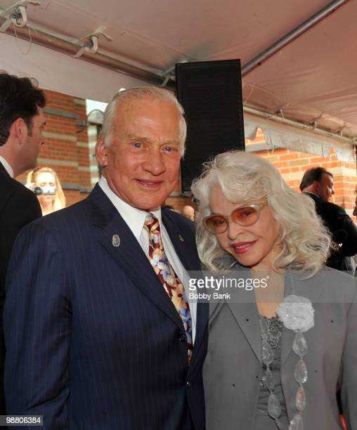 Buzz Aldrin and his wife Lois Driggs Cannon attend the 3rd Annual New Jersey Hall of Fame Induction Ceremony at the New Jersey Performing Arts Center...