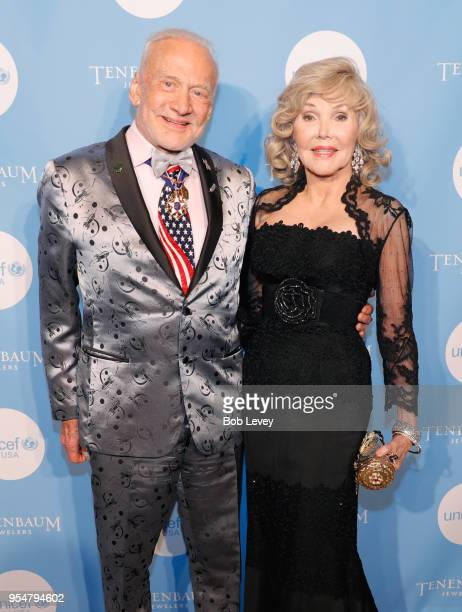 Buzz Aldrin and Joanne King Herring attend the Fifth Annual UNICEF Gala Houston 2018 at The Post Oak Houston on May 4 2018 in Houston Texas