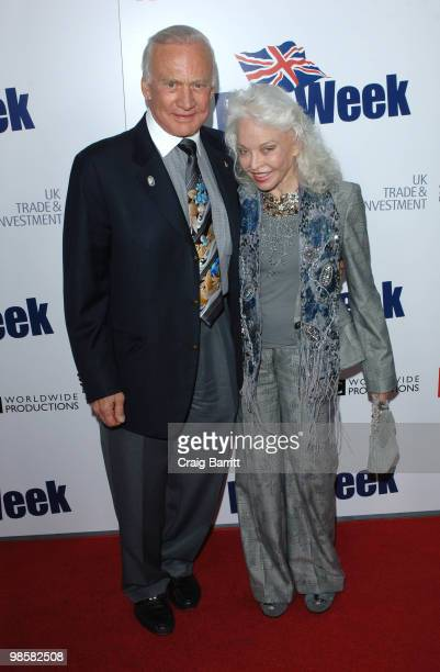 Buzz Aldrin and Lois Aldrin arrive at the 2010 Champagne Launch Of BritWeek at the Consul General's Residence on April 20 2010 in Los Angeles...