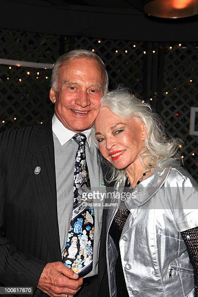 Buzz Aldrin and Lois Aldrin attend the birthday celebration for Edyta Sliwinska at XIV on May 24 2010 in West Hollywood California