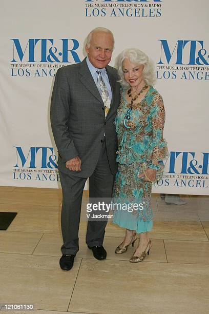 Buzz Aldrin and Lois Aldrin during Evening with Ted Koppel at Musuem of Television Radio in Beverly Hills CA United States