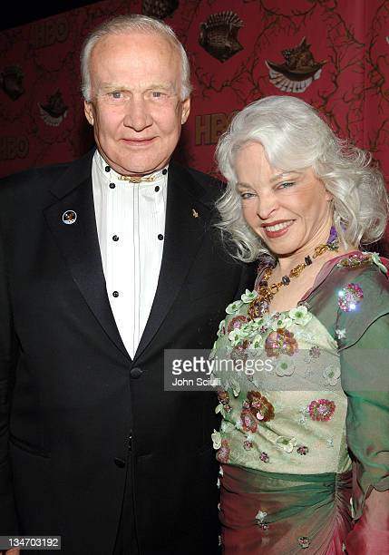 Buzz Aldrin and Lois Driggs Cannon during 58th Annual Primetime Emmy Awards HBO After Party Red Carpet and Inside at Pacific Design Center in West...