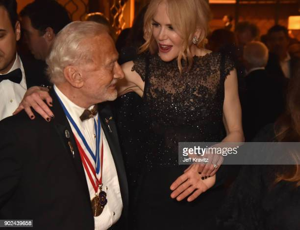 Buzz Aldrin and Nicole Kidman attend HBO's Official 2018 Golden Globe Awards After Party on January 7 2018 in Los Angeles California
