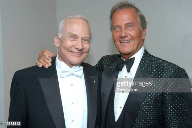 Buzz Aldrin and Pat Boone during Jr. Philharmonic Orchestra 68th Anniversary Concert Spectacular at Dorothy Chandler Pavilion in Los Angeles,...