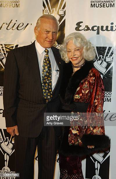 Buzz Aldrin and wife Lois Aldrin during Cartier Esquire Magazine and Hollywood Entertainment Museum Present the 2004 Hollywood Legacy Awards Gala at...