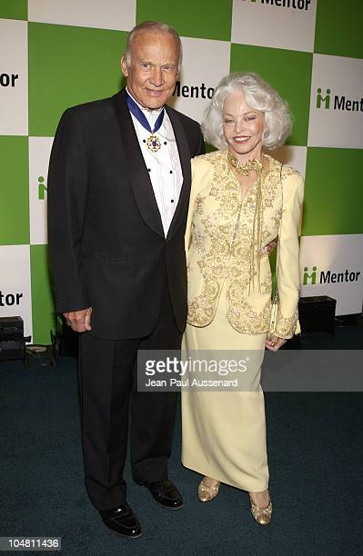 Buzz Aldrin and wife Lois Aldrin during The Mentor Foundation Brings A Global Celebration To Los Angeles at Paramount Studios in Los Angeles...