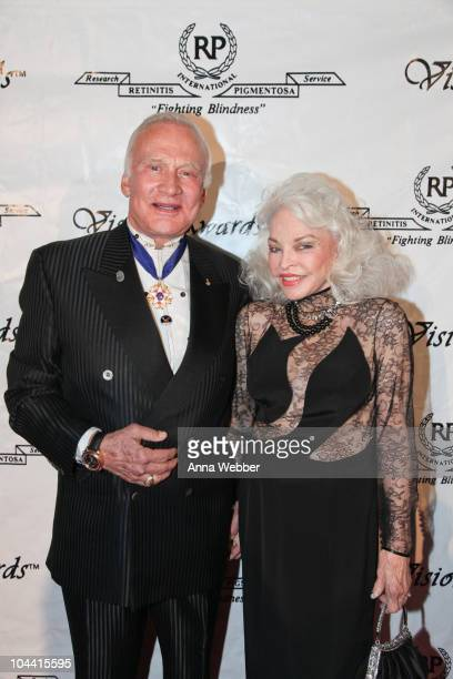Buzz Aldrin and wife Lois attend the 40th Annual Vision Awards at The Beverly Hilton hotel on September 23 2010 in Beverly Hills California