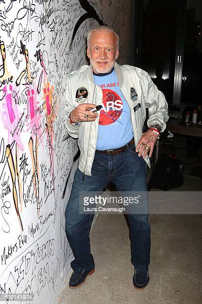 Buzz Aldrin attends AOL Build to discuss his new book No Dream Is Too High at AOL on April 4 2016 in New York City