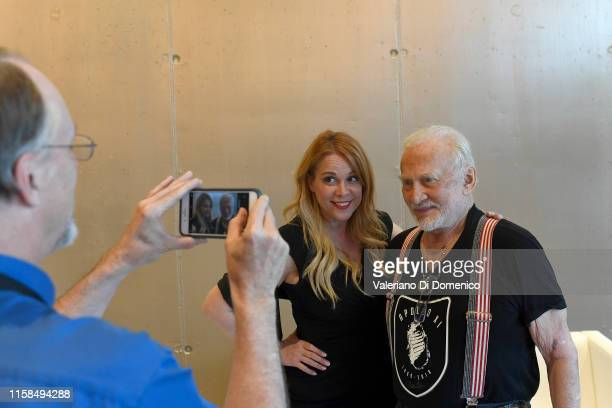 Buzz Aldrin attends Starmus V A Giant Leap sponsored by Kaspersky at Samsung Hall on June 26 2019 in Zurich Switzerland