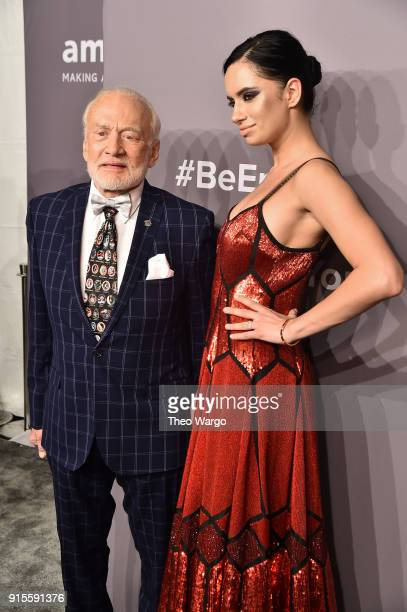 Buzz Aldrin attends the 2018 amfAR Gala New York at Cipriani Wall Street on February 7 2018 in New York City