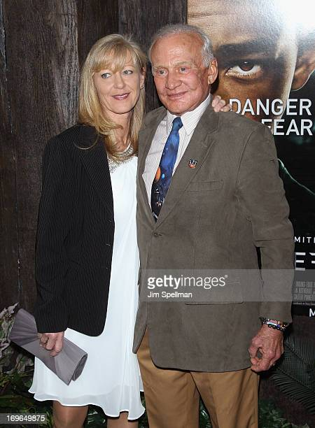 Buzz Aldrin attends the 'After Earth' premiere at the Ziegfeld Theater on May 29 2013 in New York City