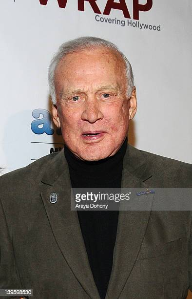 Buzz Aldrin attends TheWrapcom 2012 PreOscar Party at Culina Restaurant at the Four Seasons Los Angeles on February 22 2012 in Beverly Hills...