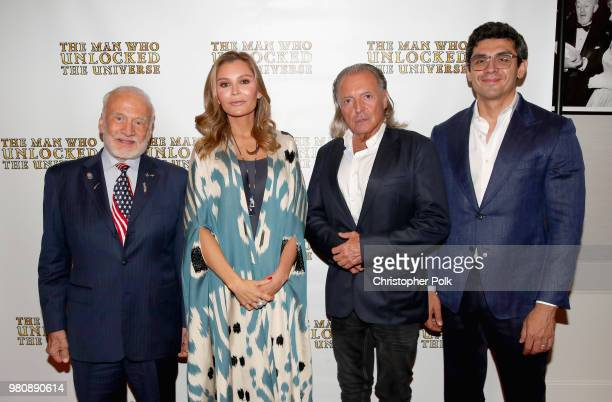 Buzz Aldrin executive producers Lola Tillyaeva Armand Assante and Timur Tillyaev at the premiere of THE MAN WHO UNLOCKED THE UNIVERSE on June 21 2018...