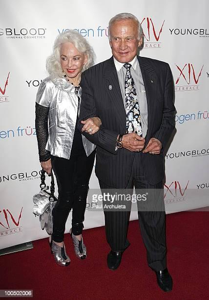 Buzz Aldrin Lois Aldrin arrive for Edyta Sliwinska birthday celebration at Michael Minas XIV Restaurant on May 24 2010 in Los Angeles California