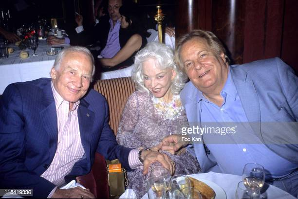 Buzz Aldrin Mrs Aldrin and Massimo Gargia during Olivier Fuchs Saint Tropez Dinner Party 2006 at Castel Club in Cannes France