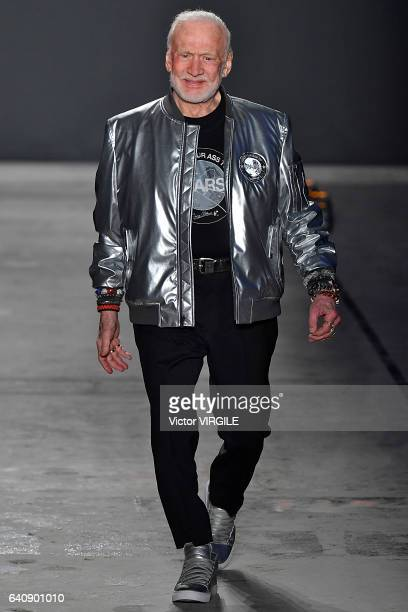 Buzz Aldrin walks the runway at Nick Graham fashion show during NYFW Men's on January 31 2017 in New York City