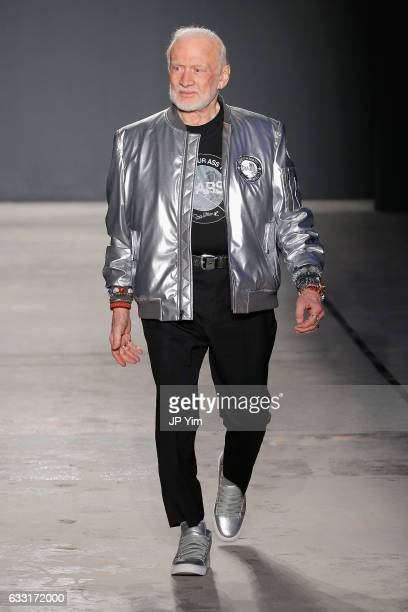 Buzz Aldrin walks the runway at the Nick Graham NYFW Men's F/W '17 show on January 31 2017 in New York City