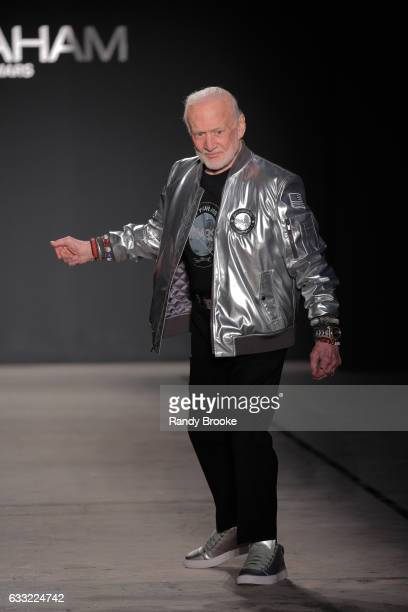 Buzz Aldrin who walked on the moon at the Nick Graham Runway show during NYFW Mens at Skylight Clarkson North on January 31 2017 in New York City