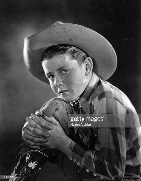 Buzz Barton the American character actor and child star who featured in many Westerns He is pictured aged thirteen