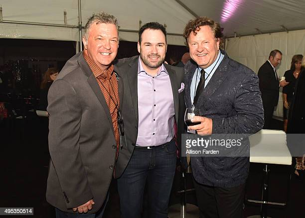 Buzz Brainard of Sirius XM Nate Riches of Morris Artist Management and CEO/President of Premier Global Production Troy Vollhoffer attend Off The...