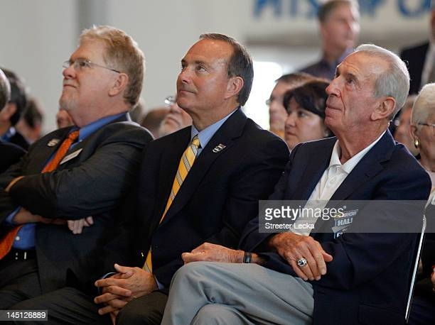 Buzz Mckenzie Jerry Punch and Ned Jarrett attend Voting Day at the NASCAR Hall of Fame on May 23 2012 in Charlotte North Carolina