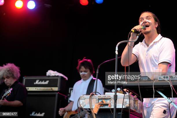 Buzz Osborne, Trevor Dunn and Mike Patton of the Fantomas perform on stage at Big Day Out Melbourne at Flemington Race Course on 26th January 2009 in...