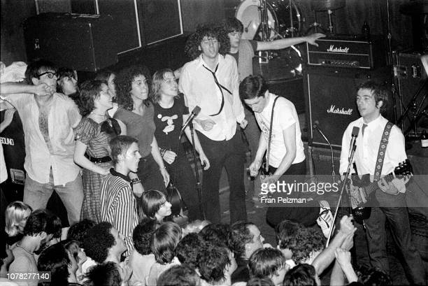 Buzzcocks performing at a Club 57 presents show at Irving Plaza in New York City on September 11979