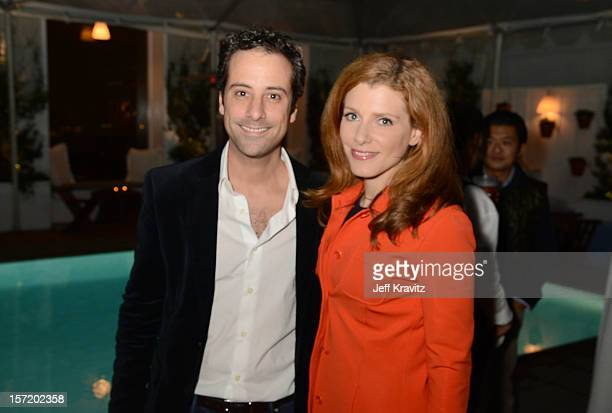 BuzzFeed president and COO Jon Steinberg and CNBC's Julia Boorstin attend BuzzFeed's Los Angeles Bureau Party at SkyBar at the Mondrian Los Angeles...