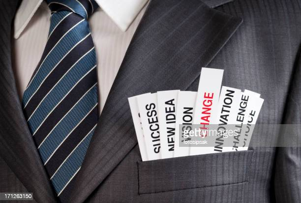 Buzzwords commonly used in a businessman's suit pocket
