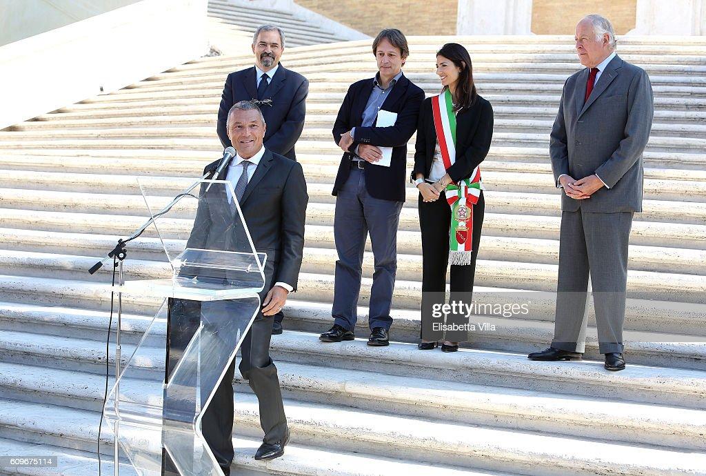 Bvlgari Tribute To Spanish Steps -  Press Conference