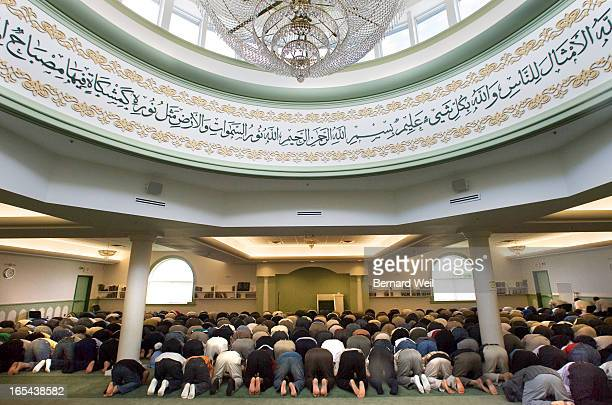 BW_060706Mosque01 _People praying in the mosque at the Islamic Society of North America Canada, Mississauga, June 9, 2006._