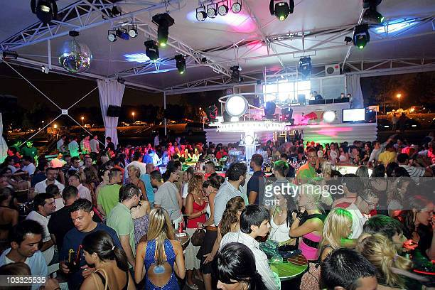 STORY by ALEKSANDRA NIKSIC This undated photo shows party goers at a boat night club in Belgrade Serbia's onceisolated capital Belgrade is gaining...