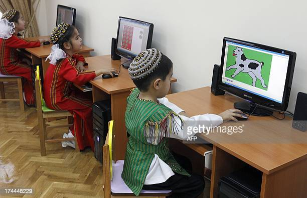By Anton Lomov Children enjoy computers in a computer centre in Ashgabat on July 22, 2013. Turkmenistan, an energy-rich Central Asian nation...