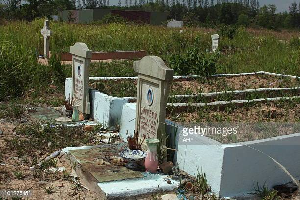 STORY 'STORY VIETNAMFRANCEEDUCATIONEXECUTION' by Aude GENET This photo taken on May 23 2010 shows a graveyard for people given the death penalty...