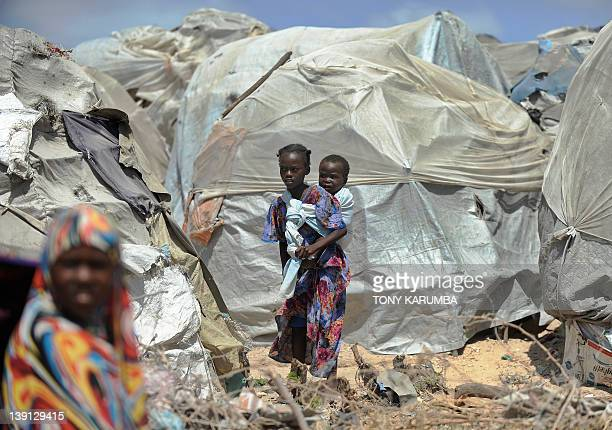 STORY by Boris Bachorz Photo made February 14 2012 shows Internally displaced Somalis children at their IDP camp in wartorn capital Mogadishu At...