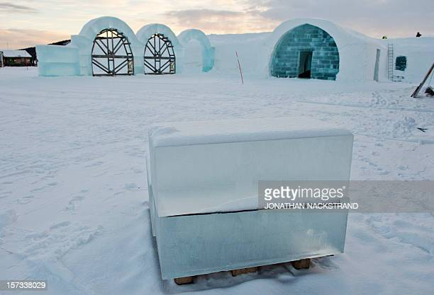 STORY by CAMILLE The construction site of the new Ice Hotel in the village of Jukkasjarvi near Kiruna in Swedish Lapland is pictured on November 16...